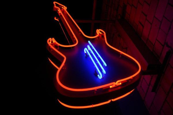 Bespoke Neon Signs, Guitar for Rock Cafe