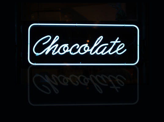 Bespoke Neon Signs London, Chocolate