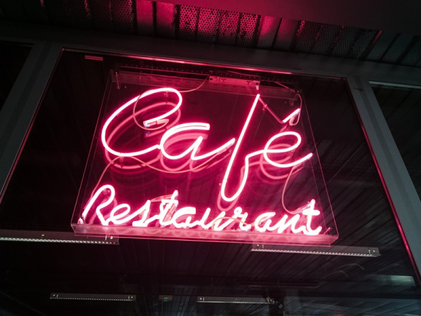 Pink Neon sign for Cafe & Restaurant in London